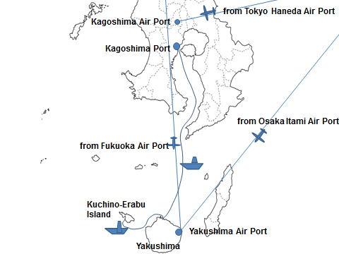 Kuchinoerabu Island Is In Town Yakushima - Japan map yakushima